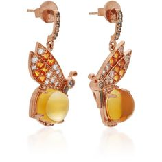 Anabela Chan Butterfly Citrine Earrings (6,975 SAR) ❤ liked on Polyvore featuring jewelry, earrings, monarch butterfly earrings, citrine earrings, citrine jewelry, earring jewelry and handcrafted jewelry
