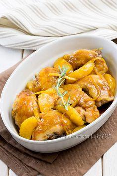 煎雞腿配香橙果醬汁【清新特色】 Chicken Thighs with Orange Marmalade           |            簡易食譜: 中西各式家常菜譜 | 基絲汀