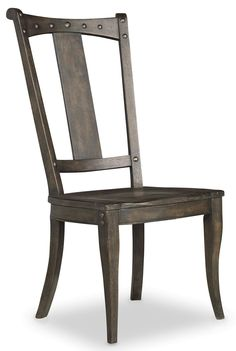 """Features:  -Dramatic dark charcoal finish with decorative nail trim.  -Splat back.  Number of Items Included: -2. Dimensions:  Overall Height - Top to Bottom: -43.25"""".  Overall Width - Side to Side: -"""