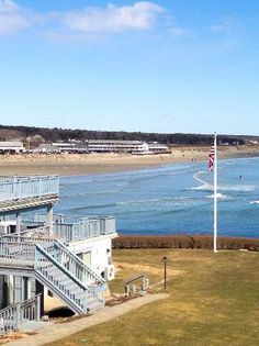 The Beachmere Inn: View from room 213 overlooking Ogunquit beach