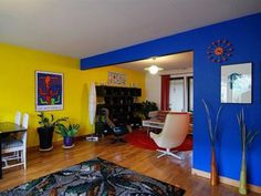 Yellow color schemes for living room beautiful navy blue living room color scheme Living Room Wall Designs, Living Room Color Schemes, Paint Colors For Living Room, House Paint Interior, Interior Design Living Room, Color Interior, Interior Painting, Home Wall Painting, Navy Blue Living Room