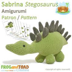 Sabrina Stegosaurus par FROGandTOAD Créations © #Amigurumi #Crochet #Patron #Pattern #Dinosaur #Dinosaure #Stegosaurus #Stégosaure