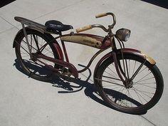 1953 Schwinn skip tooth 2 speed tank bike with headlight