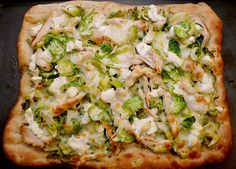 Brussels sprouts and chicken pizza. Finally a brussels sprouts recipe that actually looks appetizing.