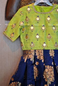 Beautiful and simple coin work on blouse