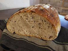 FOTORECEPT: Špaldový kváskový chlieb Fermented Foods, Bread, Basket, Brot, Baking, Breads, Buns