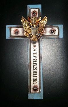 "Air Force Eagle Wall Cross 12"""