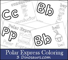 At Christmas time one of our favorite stories is the The Polar Express. For that reason I'm updating a small part of the Polar Express to add some more coloring pages. Polar Express Activities, Polar Express Theme, Polar Express Train, Abc Activities, Preschool Christmas, Christmas Activities, Christmas Crafts For Kids, Christmas Fun, Christmas Printables