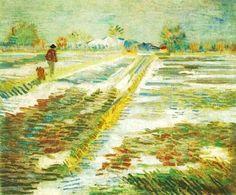 Paesaggio con la neve di Vincent Van Gogh 1888