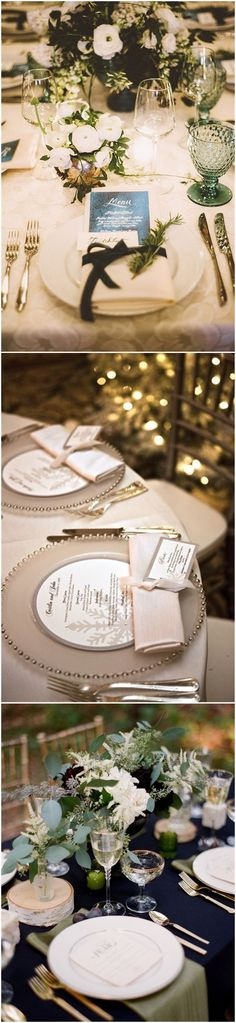 Wedding Decorations » Romance and Warmth– 29 Genius Winter Wedding Table Setting Ideas