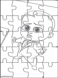 Puzzles Rompecabezas recortables para imprimir para niños El Bebé Jefazo - Boss Baby 21