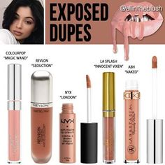"@kyliecosmetics ""Exposed"" Lipkit Dupes More details & swatches will be on allintheblush.com tomorrow #allintheblush #makeupslaves #trendmood #vegas_nay #makeup #beauty #hudabeauty #slave2beauty #insta_makeup #norvina #glamrezy #amrezy #makeupartist #motd #mua #makeupaddict #wakeupandmakeup #kyliejenner #kylielipkit #exposed #dupes #makeupdupes"