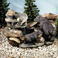 little follower bear indoor outdoor water fountain