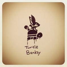 Turtle Banksy #turtleadayjuly - @turtlewayne- #webstagram
