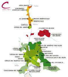Côtes du Rhône wijnkaart