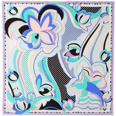 Emilio Pucci Printed Silk Scarf ($325) ❤ liked on Polyvore featuring accessories, scarves, multicoloured, pure silk scarves, colorful scarves, emilio pucci scarves, silk scarves and silk shawl