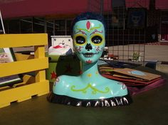 Hey...here's a good Garage Sale Project....Day of the Dead Barbie