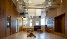Kengo Kuma & Associates. Center for early childhood education and care in Saitama City, Japan.