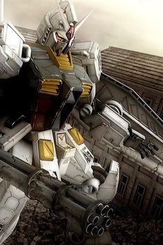 Unfortunately, I don't know which Gundam this is - http://24.media.tumblr.com/215b419f0c5e553513a656f771fab81c/tumblr_mjs8ztOdiu1qbpki9o1_1280.jpg