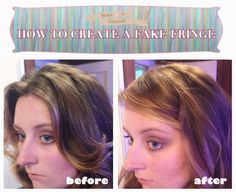 Tutorial on how to create fake bangs with two bobby pins, lots of pics and illustrations!