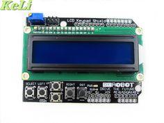 5pcs/lot LCD Keypad Shield LCD1602 LCD 1602 Module Display For ATMEGA168 ATMEGA328 ATMEGA2560 ATMEGA1280 UNO blue screen #Affiliate