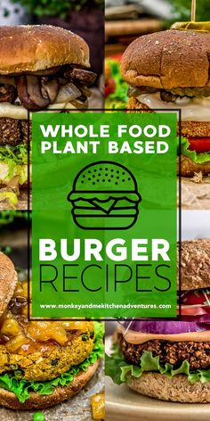 We've gathered a delicious list of Whole Food Plant Based Burgers that are healthy, oil free, and sure to make your belly happy! #wholefoodplantbased #vegan #oilfree #glutenfree #plantbased | monkeyandmekitchenadventures.com World Recipes, Whole Food Recipes, Vegan Recipes, Diet Recipes, Plant Based Whole Foods, Plant Based Recipes, Whole Foods List, Vegan Party Food, Vegan Food