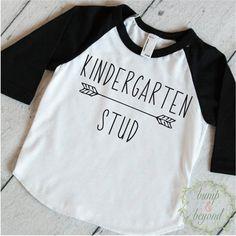 Kindergarten Shirt, Kindergarten Stud, First Day of Kindergarten Shirt, Boys Back to School Outfit, 1st Day of Kindergarten Outfit by BumpAndBeyondDesigns