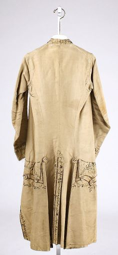 Court coat (back)  Date:     1750 Culture:     European Medium:     silk Dimensions:     [no dimensions available] Credit Line:     Gift of Mr. Lee...