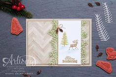 Weihnachtskarte mit Holz Hintergrund