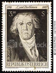 Postage stamp Austria 1970 Ludwig van Beethoven, Composer