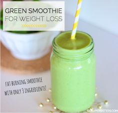 Green smoothies are one of the most ideal fat burning foods for weight loss as they are nutrient-rich, filling and low in calories & fat.