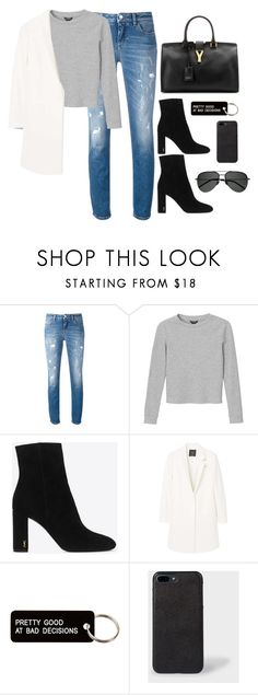 """Untitled #4059"" by magsmccray ❤ liked on Polyvore featuring Dolce&Gabbana, Monki, Yves Saint Laurent, MANGO and Various Projects"