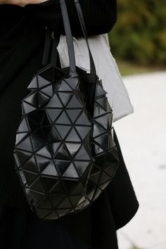 Issey Miyake, The Bilbao Bag. A geometrical yet functional piece of art- I love it!