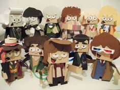 Ryan Hall's awesome Doctors (more amazing pieces, including Amy, Donna, Daleks, Cybermen, etc... on his site)