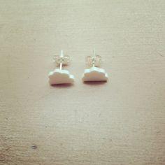 Fluffy Cloud stud earrings