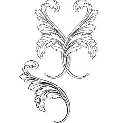 of 'Baroque Design Element Traditional Style. All Curves Separately. Baroque Design, Baroque Pattern, Filigree Design, Filigree Tattoo, Illustration Art Nouveau, Wood Burning Patterns, Letter Stencils, Carving Designs, Leather Pattern