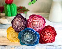 #peony #feltpeony #feltbridalbouquet Felt Peony Bouquet, Felt Bridal Bouquet, Peony Bouquet, Boho Bouquet, Wildflower Bouquet, Felt Wildflowers, Felt Peonies, Gift for Her