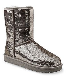 UGG Australia Womens Classic Short Sparkles Boots #Dillards $190 I want you in black.