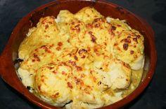 Coliflor y pasta gratinadas a la mostaza - Recetízate