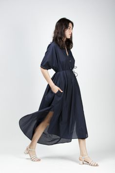 Maxi Shirt Dress - Christophe Lemaire