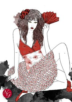 fan'tastic #fashion #illustration    http://www.nefergarden.com/2013/01/11/fantastic/