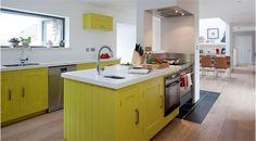 Harvey Jones Shaker kitchen, finished in Dulux 'Tarragon Glory 4'. www.harveyjones.com