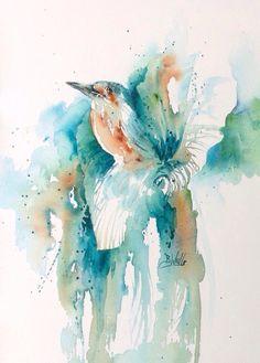 Watercolour by Bev Wells Watercolor Artists, Watercolor Bird, Watercolor Tattoo, Watercolor Paintings, Watercolors, Turquoise Art, Best Artist, Design Show, Wells
