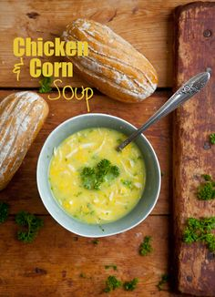 The best, most soul-warming chicken soup recipe ever! Delicous, quick and healthy too! Best Chicken Soup Recipe, Chicken Salad Recipes, Corn Soup Recipes, Dinner Recipes, Vegetarian Recipes, Healthy Recipes, Healthy Foods, Easy Recipes, Healthy Soup