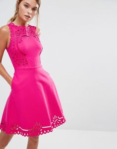 Ted+Baker+Verony+Embroidered+Cutwork+Skater+Dress