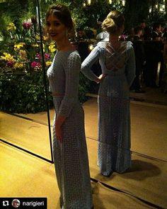 Cropped de crochê azul Hortência!!! #infinitoponto #crochet #dress