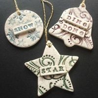 salt dough ornaments | And I find these stamp decorated salt dough ornaments also very nice.