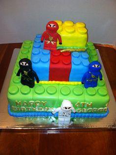 Minus the ninjas Birthday Sweets, Boy Birthday, Birthday Parties, Birthday Ideas, Birthday Celebrations, Birthday Cakes, Lego Food, Ninjago Cakes, Cakes For Boys
