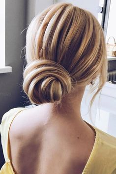 wedding updos for medium hair exqusite low bun verafursova