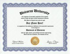 Unicorn University Diploma